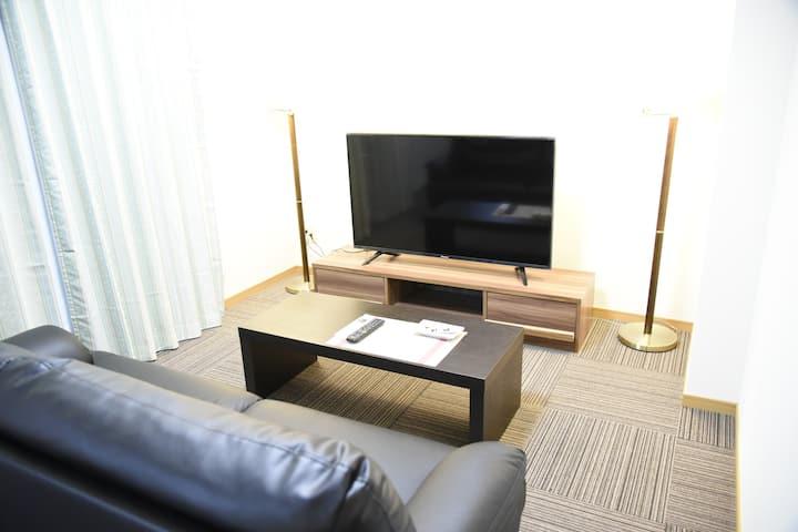 デラックス ツインルーム 【Netflix&Wi-Fi付】鹿児島中央駅徒歩5分