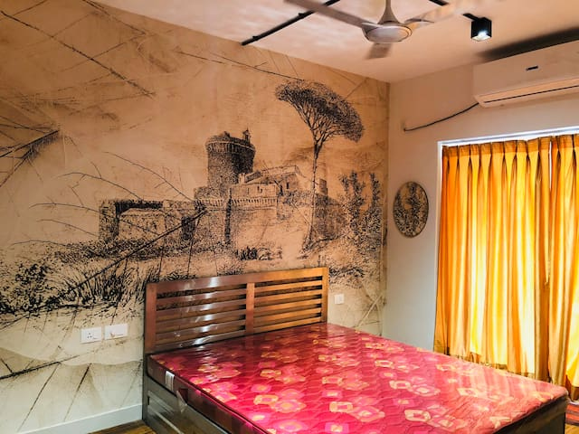 1BHKFurnished+UnmarriedCouples+Family+Candolim+Goa