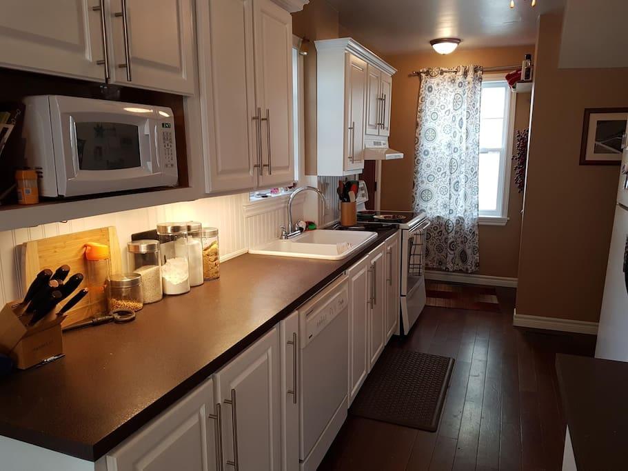 Newly painted kitchen.