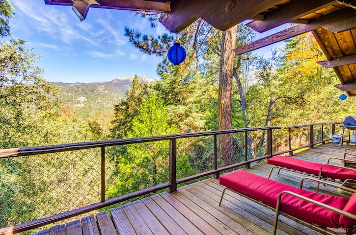 Dog-friendly and secluded cabin with large deck, private hot tub & forest views