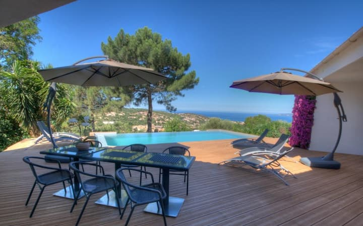 Superb gite with sea view - Pool - Propriano