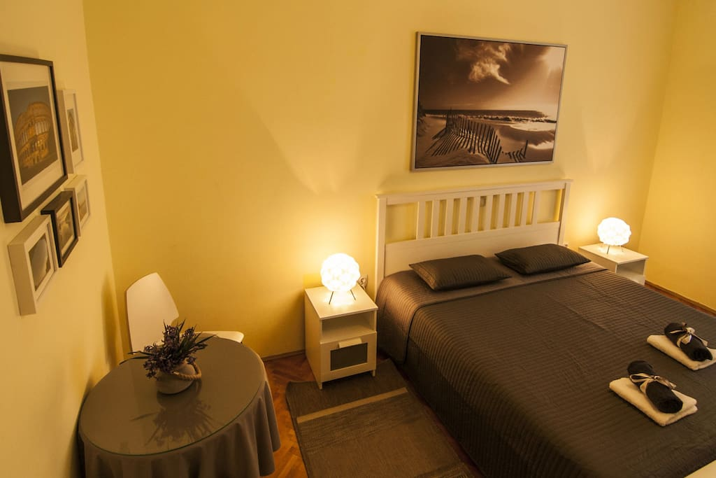 Private room with private bathroom for two persons (double bed)
