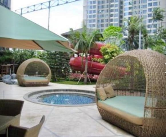 Facilities apartemen, children pool  with view golf @ ground floor open air