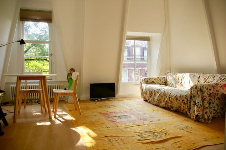 Bright Room close to Vondelpark and Museumsquare