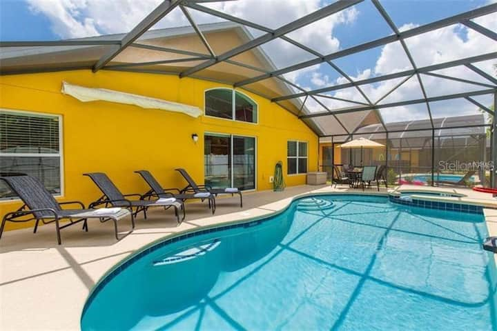Big Disney Family Home! Private Pool&Spa 7bed