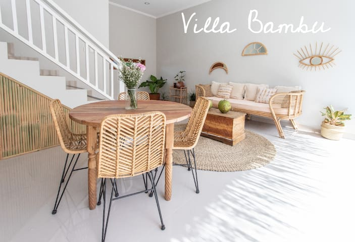 Villa Bambu- 2 bdr-rice field view-great location