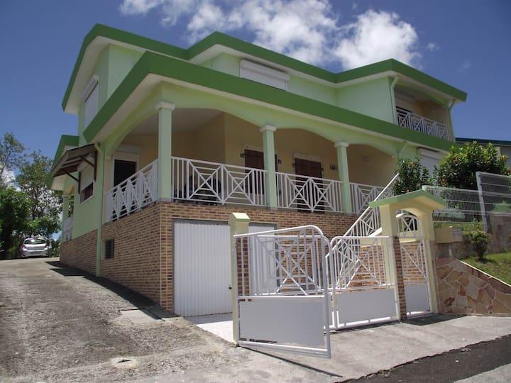 Villa á la trinité en Martinique.