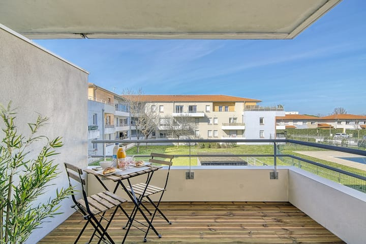 NEW! T2 cosy avec parking, balcon et piscine !