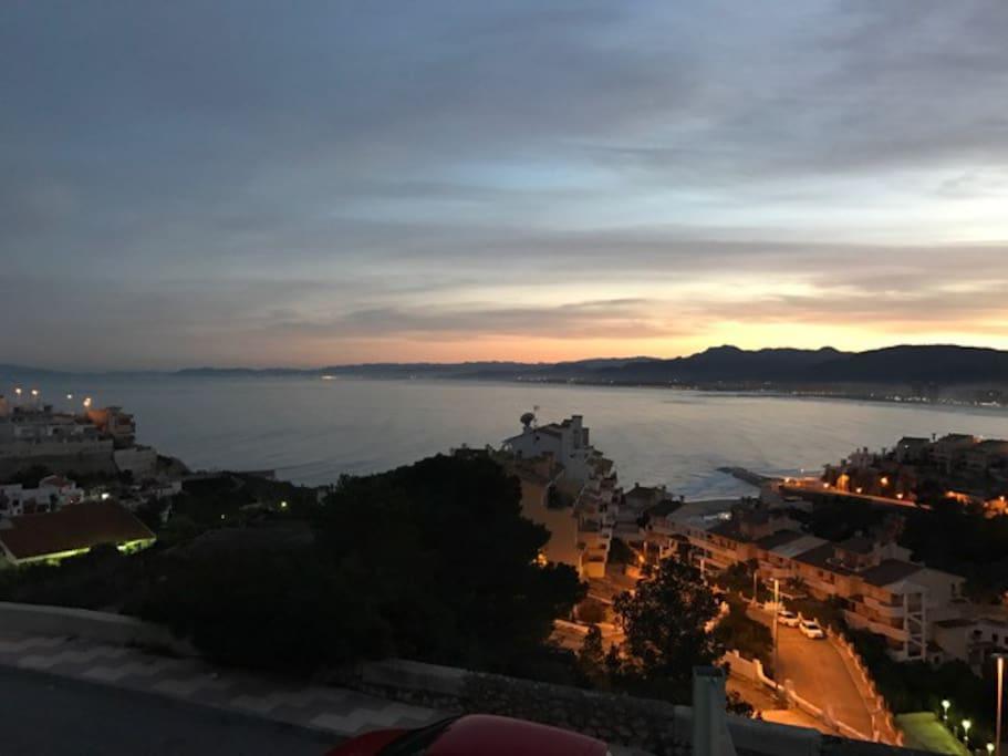 Hermosa vista hacia la Playa de Cullera
