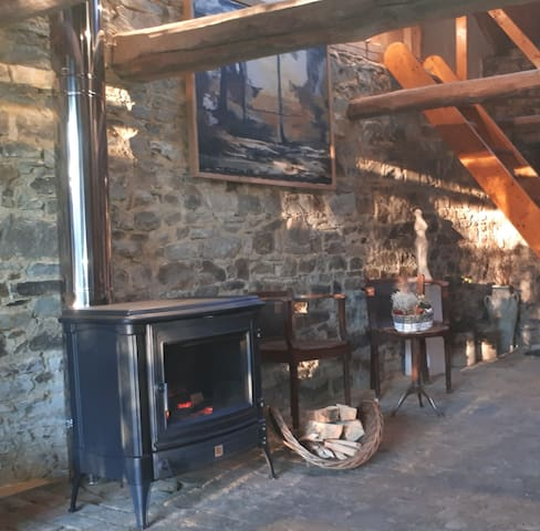 You can relax near a fireplace in my ceramic galery which is next to your studio