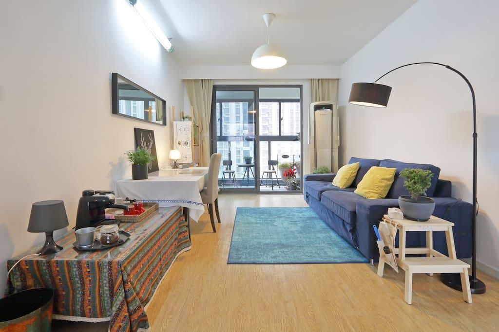 极简、干净、舒适的公寓二居室民宿