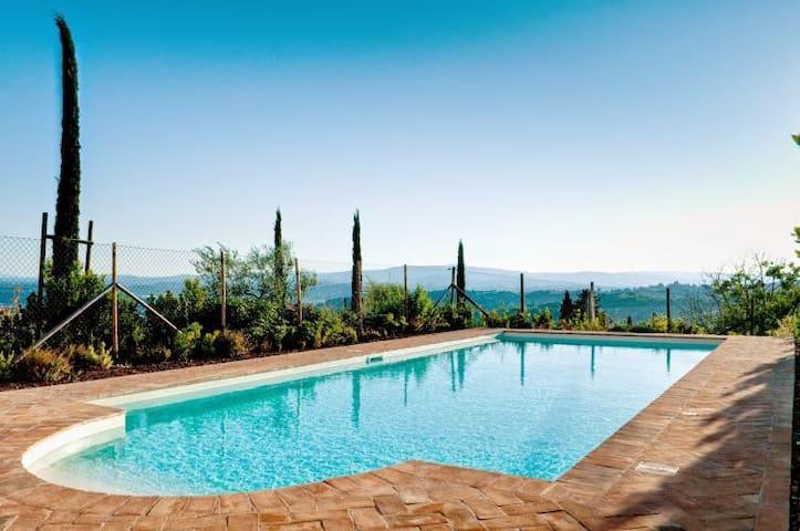Comfortable apartment with pool and private garden - Poggibonsi (SI) - Apartamento