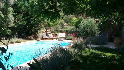 Evia Dafni Nerotrivia with private pool sea view