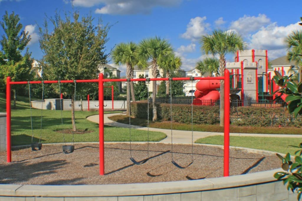 Several playground areas