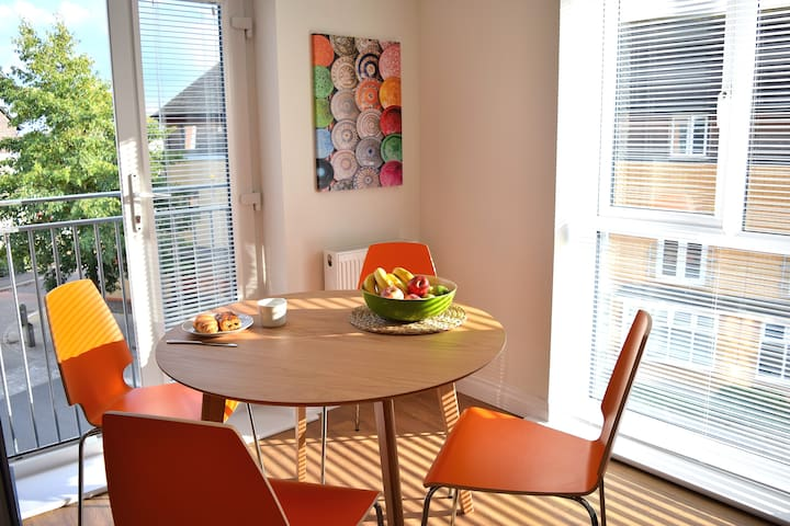 Your dining table with balcony