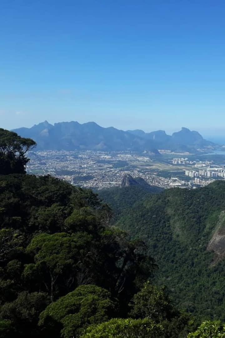 Pedra do Quilombo: Tijuca massif view