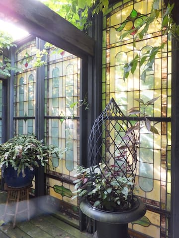 stained glass deck