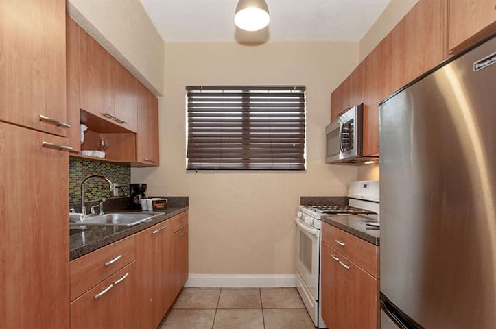 Spacious Studio Apartments with Kitchen  Steps from the Beach at the Beachside Apartment Hotel