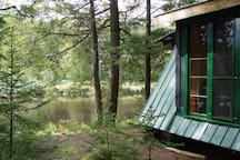 private cabin on the river