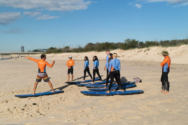 This is me taking a surf class!