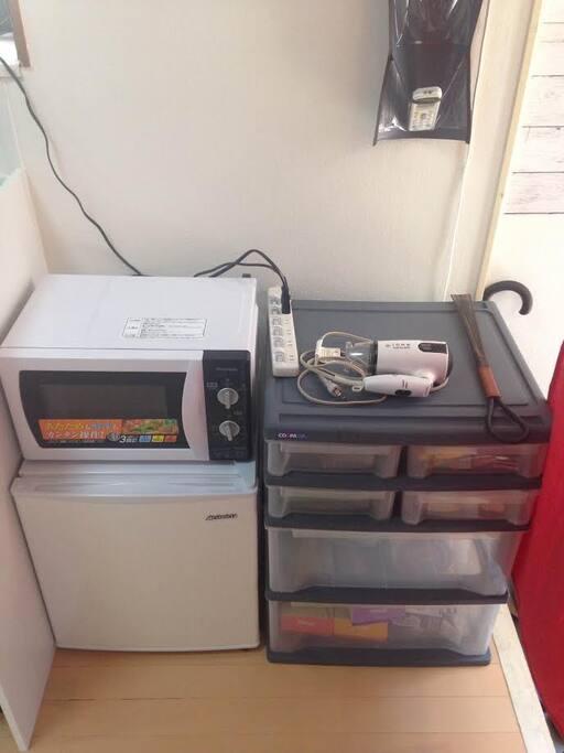 Refrigerator & Microwave &Hairdryer