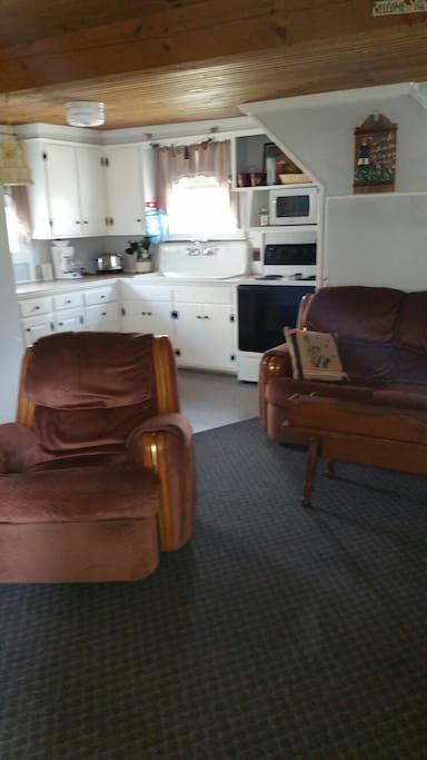 Open Living Room off Kitchen