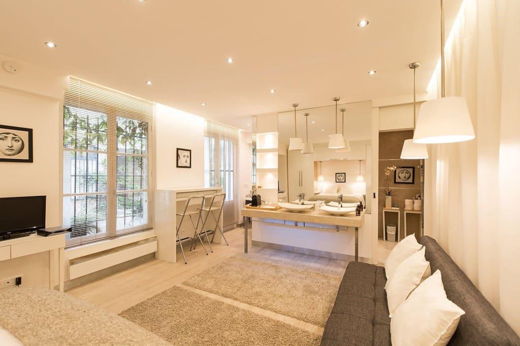paris le marais 28m2 wohnungen zur miete in paris le. Black Bedroom Furniture Sets. Home Design Ideas