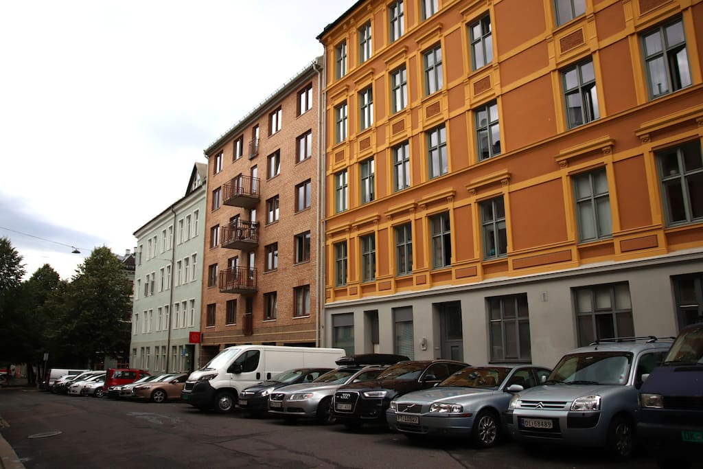 The apartment is located centrally in Grünerløkka, Oslo's hippest neighborhood.