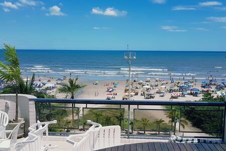 Cobertura Duplex, Pé na Areia com Vista para o Mar