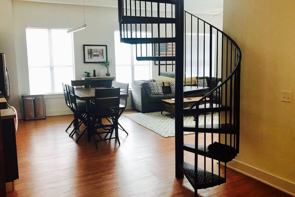 Foyer and Spiral Stairs