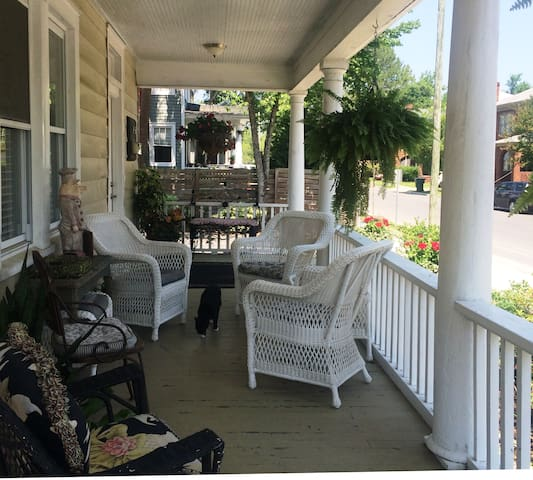 Porch sitting is a southern tradition so grab a cool one and visit with your neighbors as they walk their dogs.