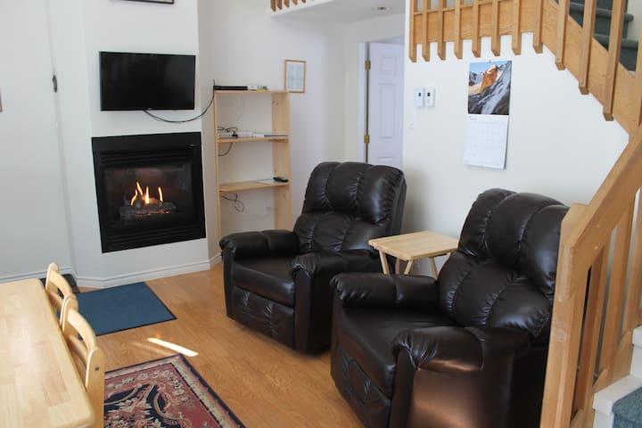 1-bedroom + loft with kitchenette