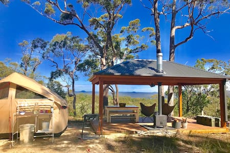 Glamp UNESCO Wilderness at Wombat Ridge's Pavilion