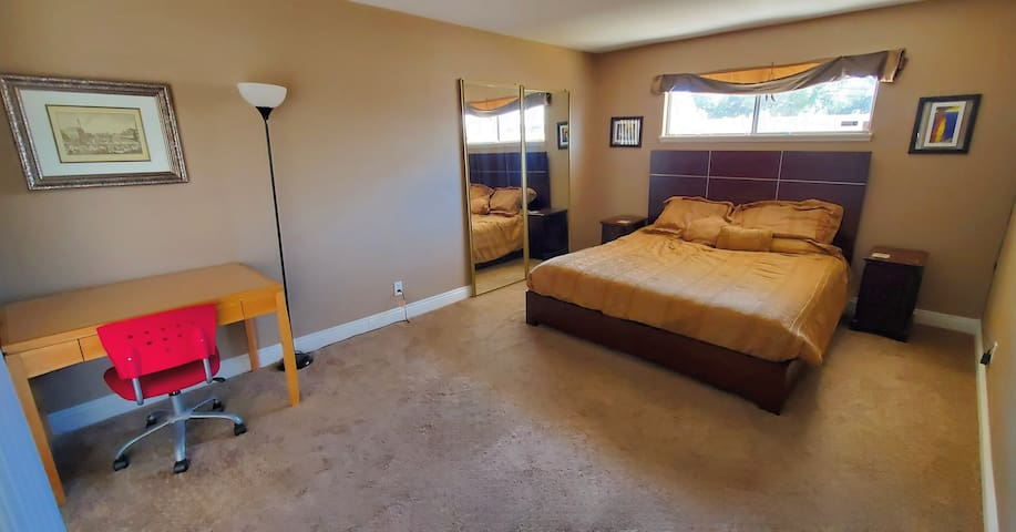 Master bedroom with private bath, central location