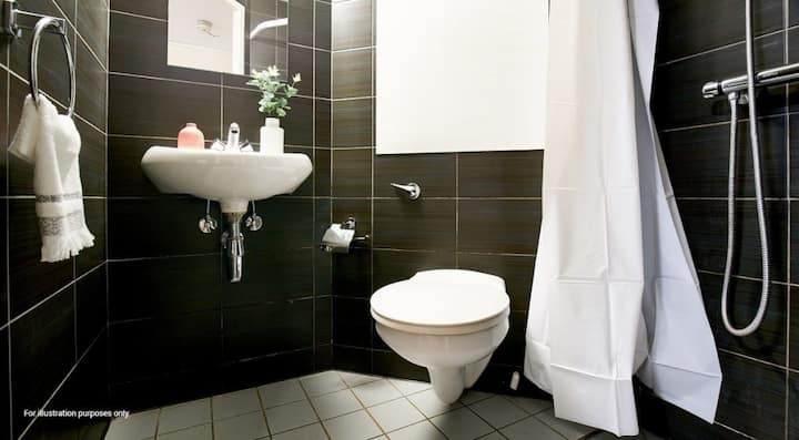 Functional Silver Ensuite