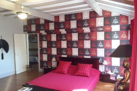 Chambre très charmante dans une maison de maître - Mazères - Townhouse