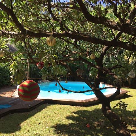 Villa créole de charme avec piscine - St Benoit