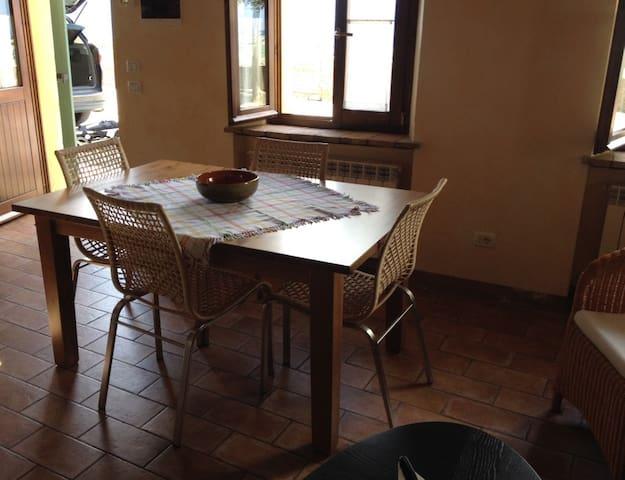 Open-plan kitchen/living space