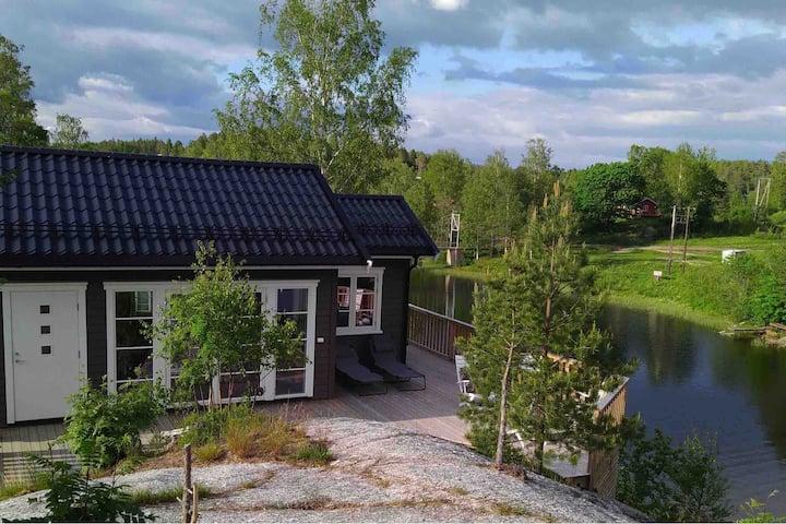 Lyseren Strandpark, ved innsjøen, 35 min fra Oslo