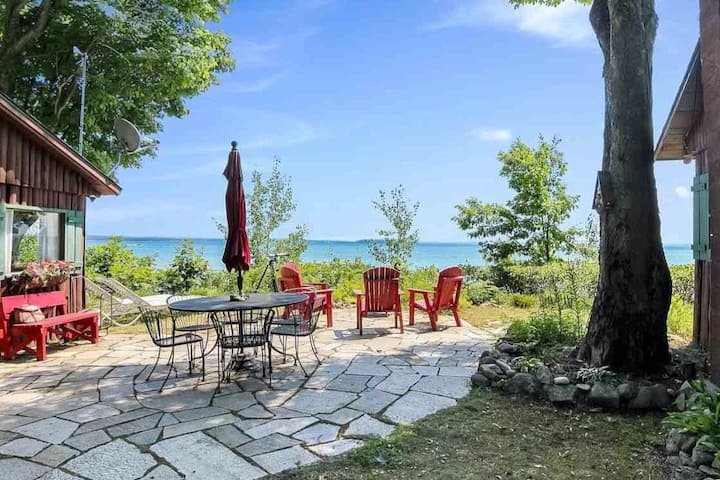 Two Waterfront Cabins on West Grand Traverse Bay
