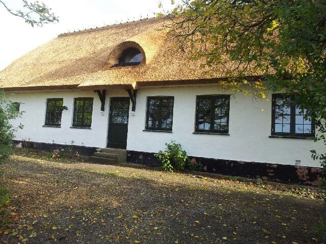 Charmerende og idyllisk stråtækt hus med hestefold - Rude - Casa