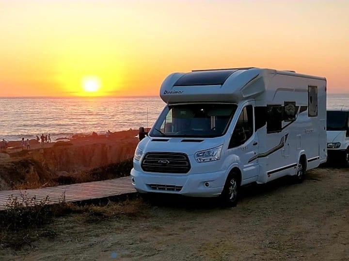Autocaravan in the paradise