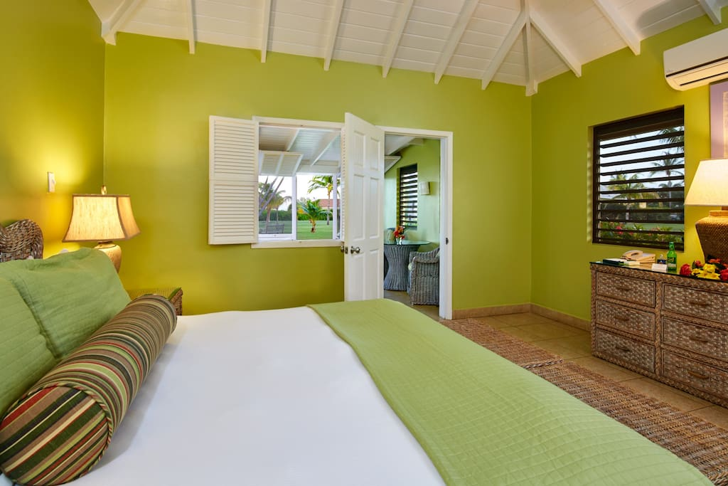 The Deluxe Garden Suite is centrally located in the middle of the resort.