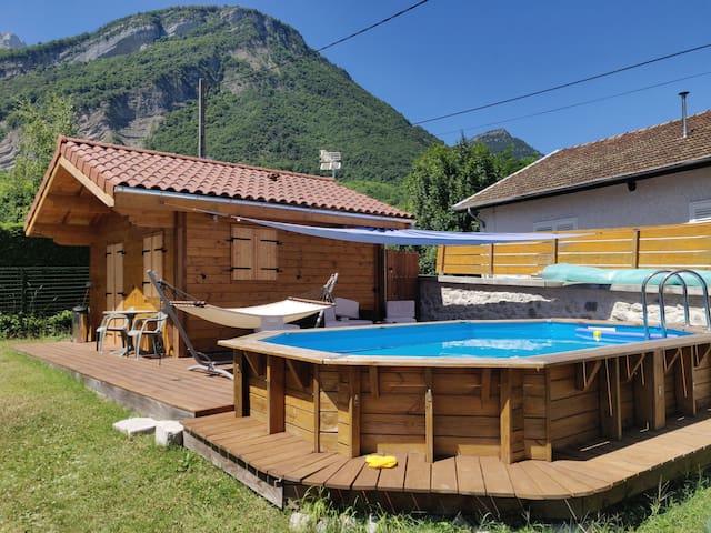 Chalet studio piscine 20m²