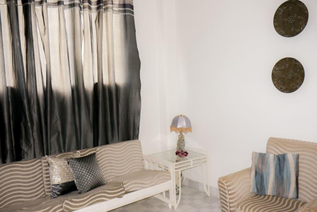 Sala de Jovy´s House. Un lugar perfecto para compartir con amigos y familiares.