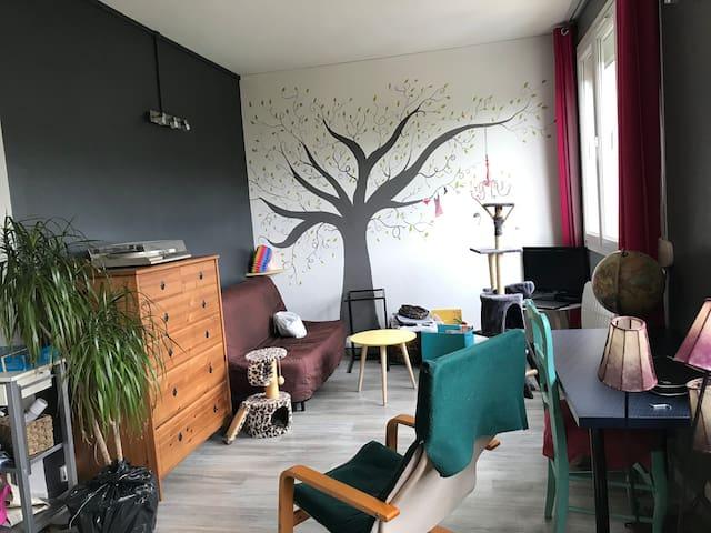 Appartement cosy à 20 min à pied du centre-ville