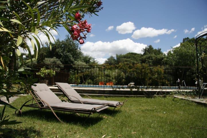 Jardin : table 6 chaises