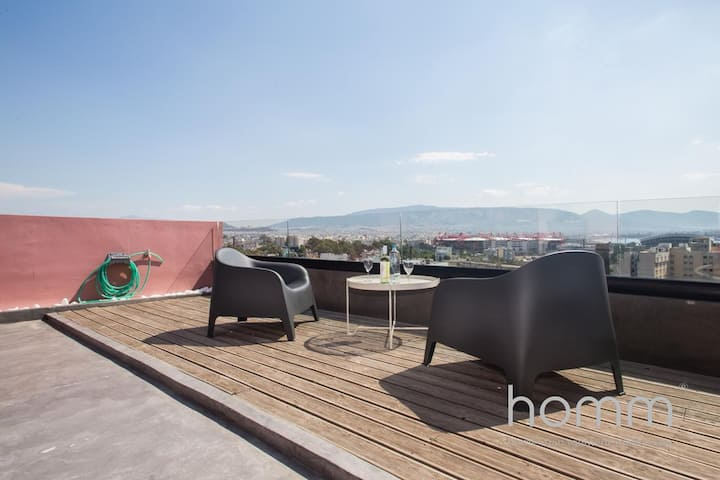 20m² homm Magical loft with Athens view