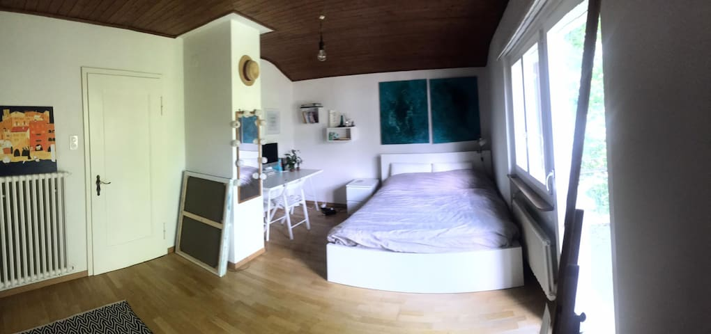 A big room with a bathroom, minimum for a month