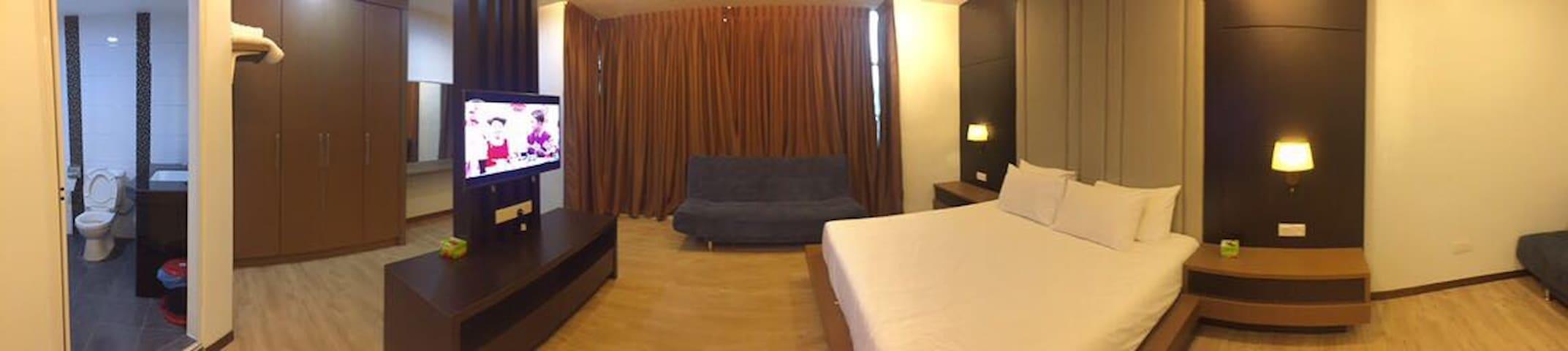VIP总统豪华式套房:舒适干净、地点方便楼下就有24hour便利店。 - Bukit Gambir - Lägenhet